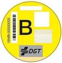 Etiqueta amariñña medioambiental de la DGT