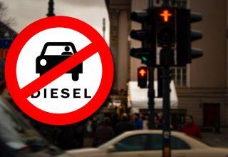 Cartel prohibido circular coches diesel por Berlín