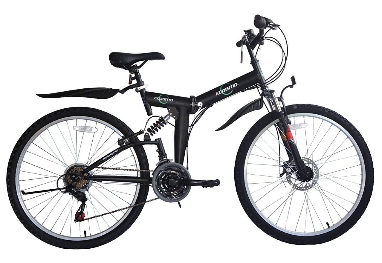 bicicleta plegable ECOSMO 26SF02BL